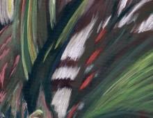 Oiseaux du paradis, acrylique, 40x20cm – vendu