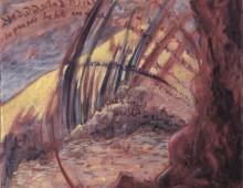 Entre les rochers, acrylique, 20x20cm