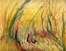 Les herbes folles, acrylique, 25x30cm