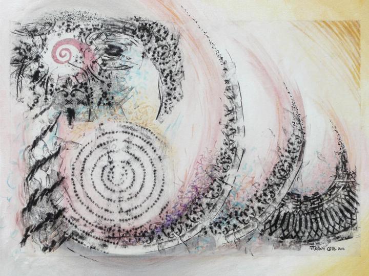 11.Spirales du temps, 40x51cm