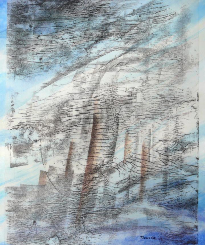 6.Par la lucarne le vent chante, 61x51cm (vendu)