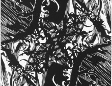 Ensemble, linogravure, 30x20cm