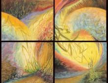 Vers les herbes jaunes, acrylique, 50x60cm – vendu